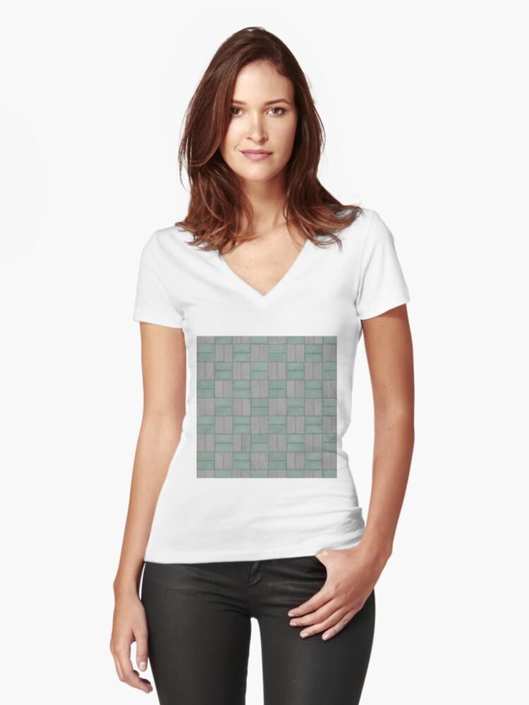 Camisetas de cuello en V entalladas para mujer «Patrones geométricos ...