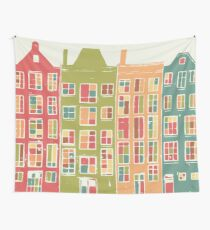 Whimsical architecture wall art Wall Tapestry