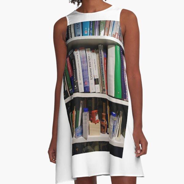 Book Shelves - Книжные полки A-Line Dress