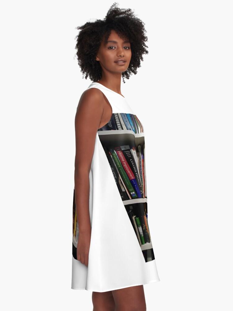 Alternate view of Book Shelves - Книжные полки A-Line Dress