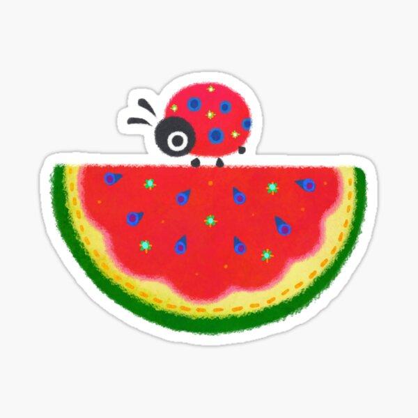 Watermelon & ladybugs Sticker