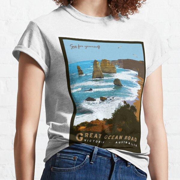Great Ocean Road Vintage Illustration Classic T-Shirt