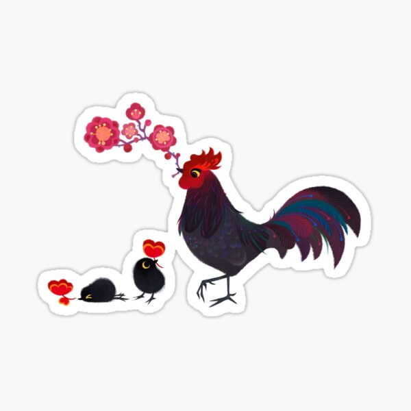 The Year of the Rooster Sticker