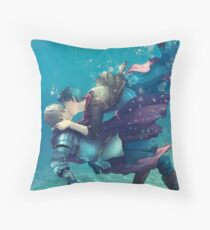 Waking up in Avalon Throw Pillow