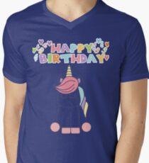 Unicorn Birthday Men's V-Neck T-Shirt