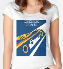 Diehard racer retro Women's Fitted Scoop T-Shirt