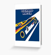 Diehard racer retro Greeting Card