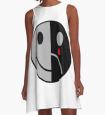 Sad-And-Happy-In-One-Face A-Line Dress