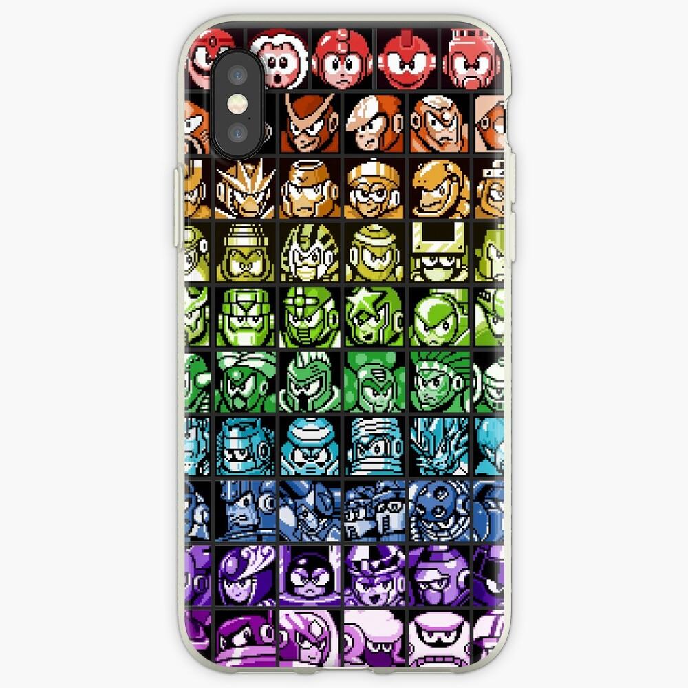 Mega Man Robot Masters Regenbogen iPhone-Hülle & Cover