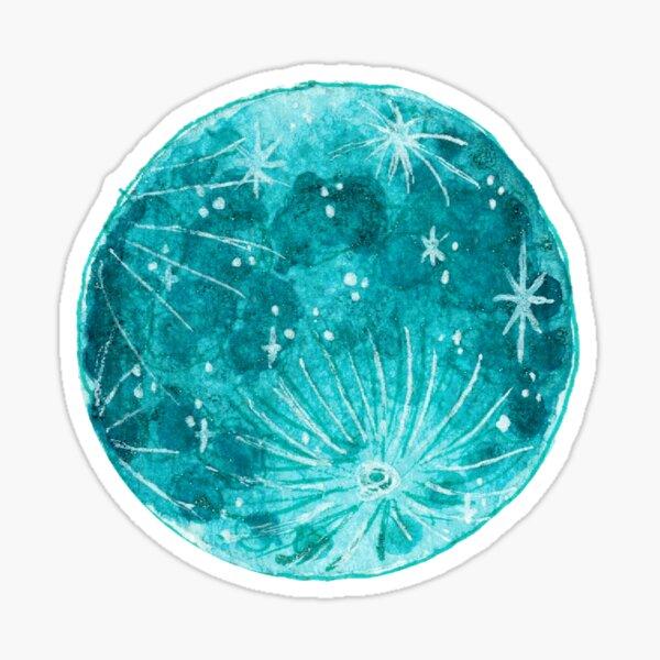 Aqua Moon Sticker