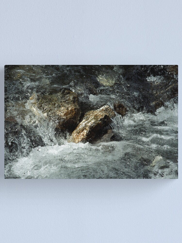 Alternate view of Weisse Lütschine: How long can a stone resist all that water? Canvas Print