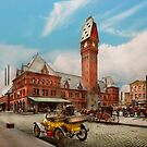 City - Chicago Ill - Dearborn Station 1910 by Michael Savad