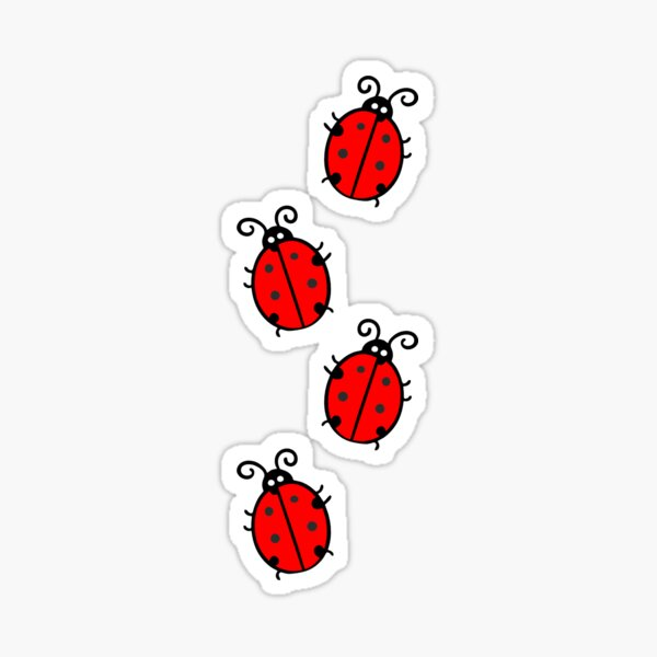 Red & Black Ladybug Sticker