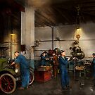 Garage - Mechanic - The overhaul 1919 by Michael Savad