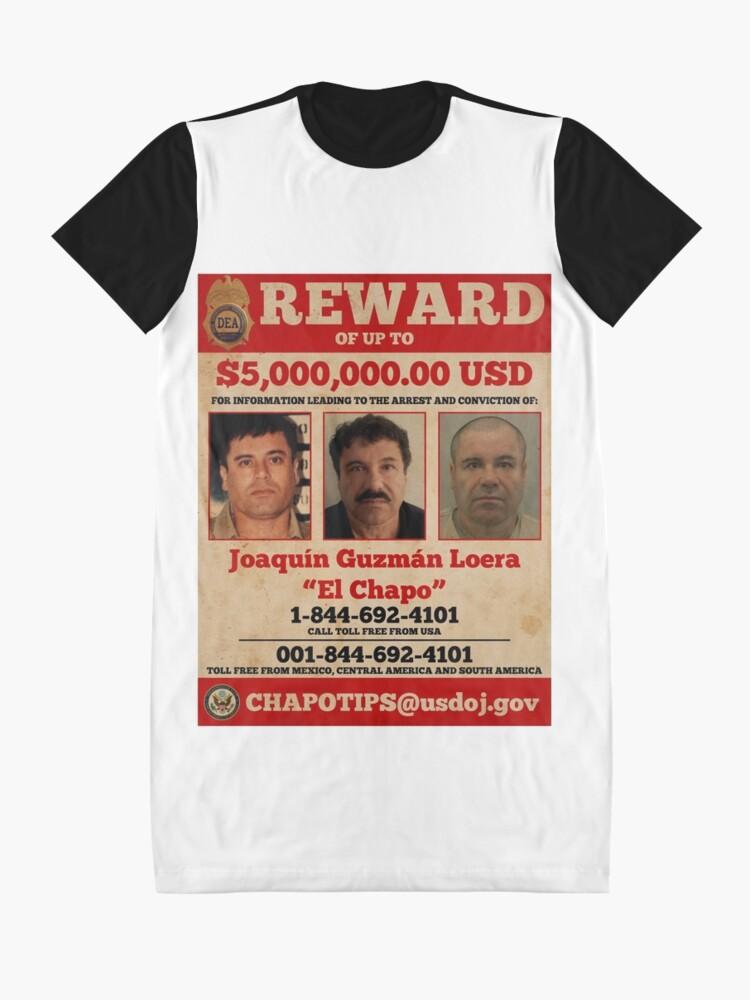 Alternative Ansicht von El Chapo wollte T-Shirt Kleid