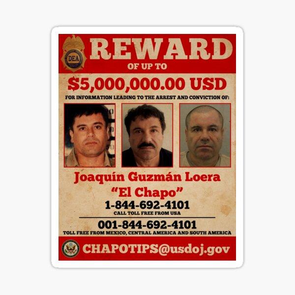 El Chapo wanted  Sticker