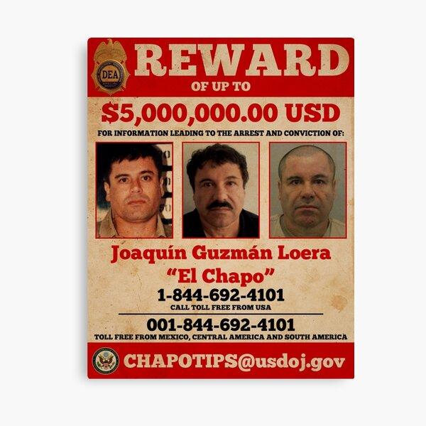 El Chapo wanted  Canvas Print