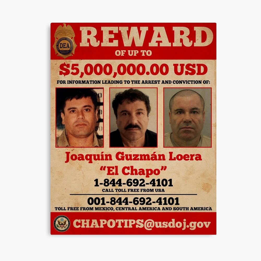 El Chapo wollte Leinwanddruck