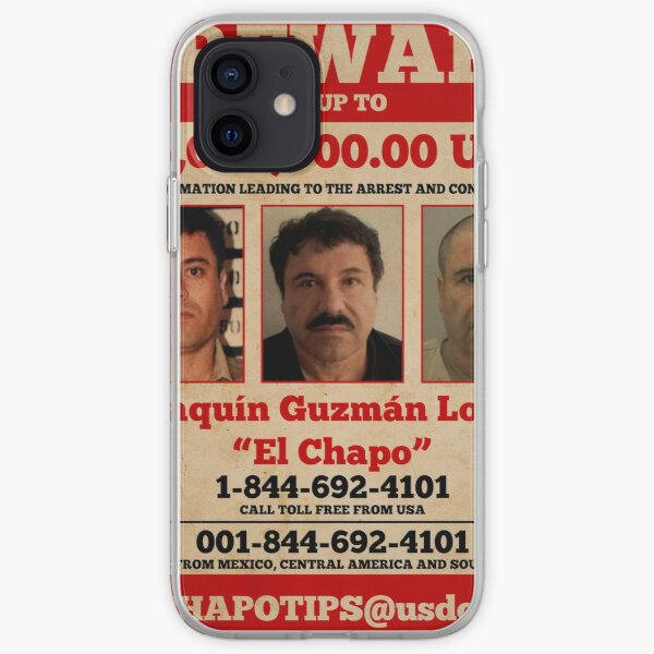 El Chapo wanted  iPhone Soft Case