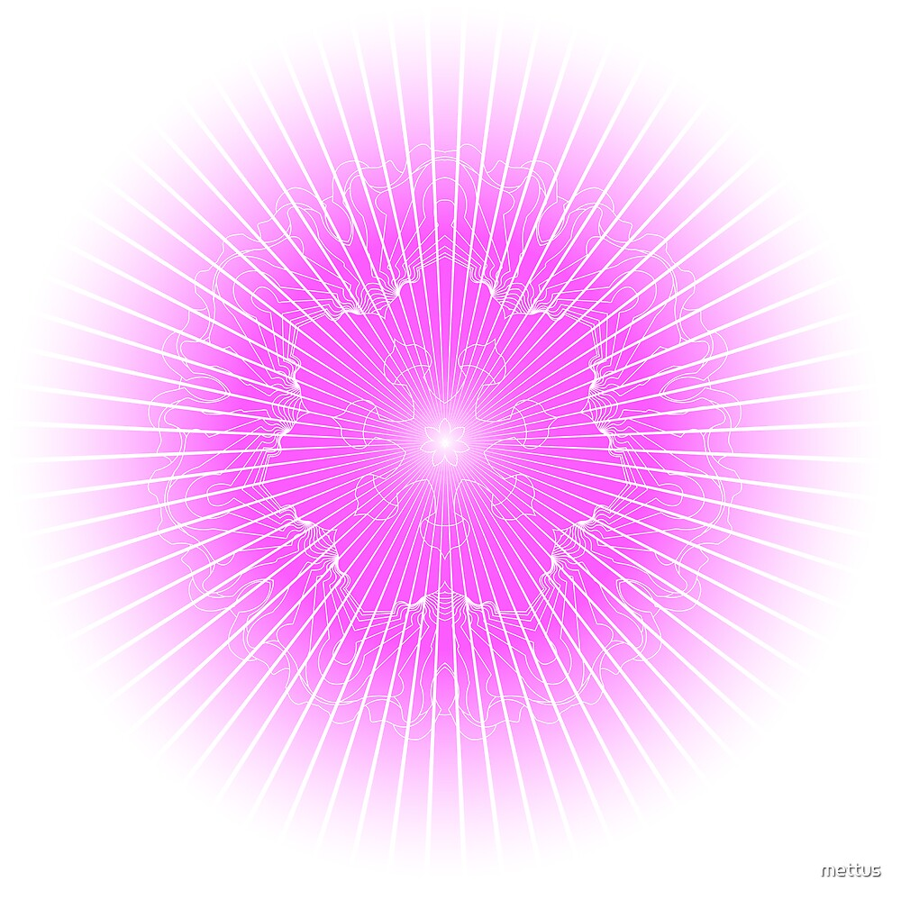 pink rays and snowflake background by mettus