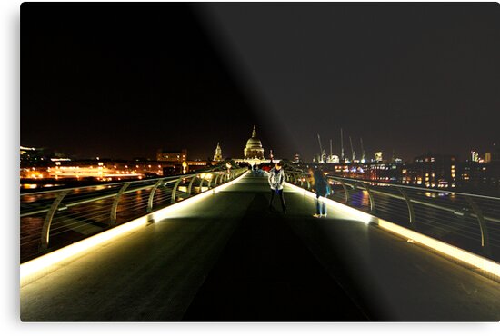 millenium bridge and st. paul's cathedral, london by photogenic