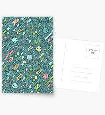 Mikroben Postkarten