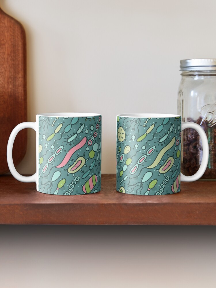 Alternate view of Microbes pattern. Bacteria design for biology lovers. Mug
