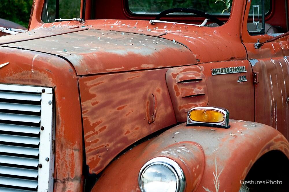 1950s Red International Harvester Truck by GesturesPhoto