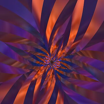 Abstract in Orange and Purple by lyle58