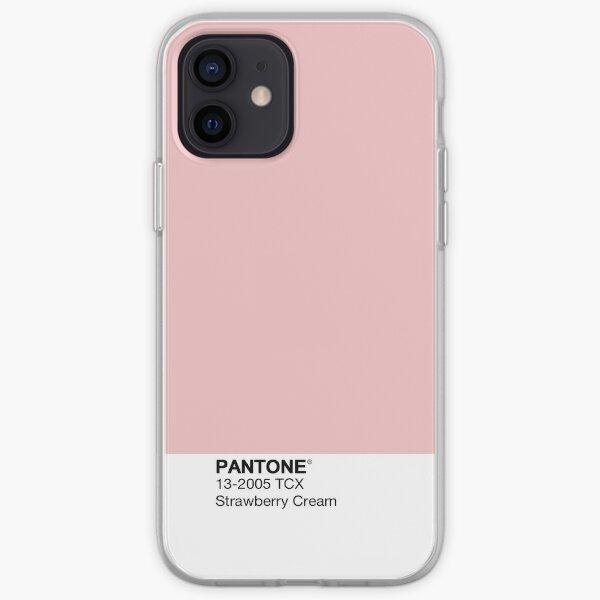 Pantone - Crème aux fraises Coque souple iPhone