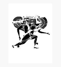 Greek Gorgon – (from cracked earthen vase) Photographic Print