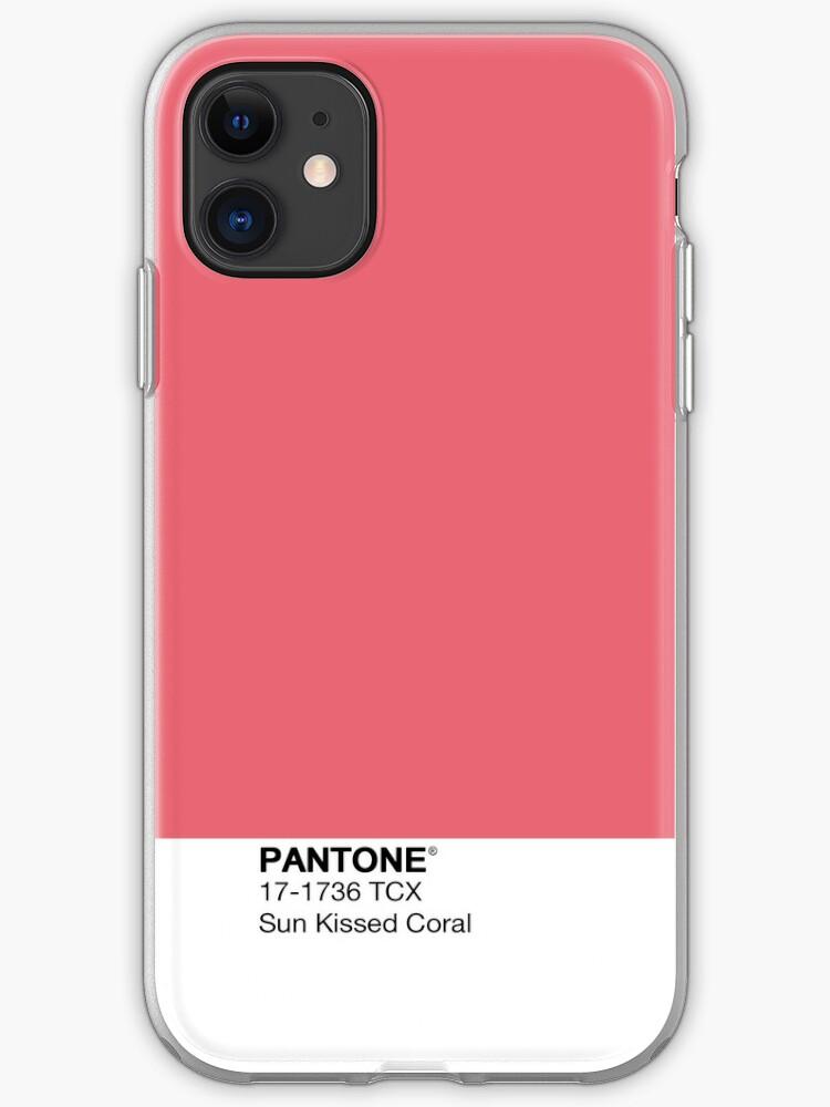 Coque iphone 11 corail