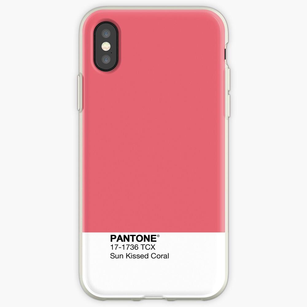 Pantone - Sonnengeküsste Koralle iPhone-Hülle & Cover