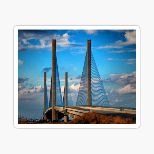 Indian River Bridge Southern View Sticker
