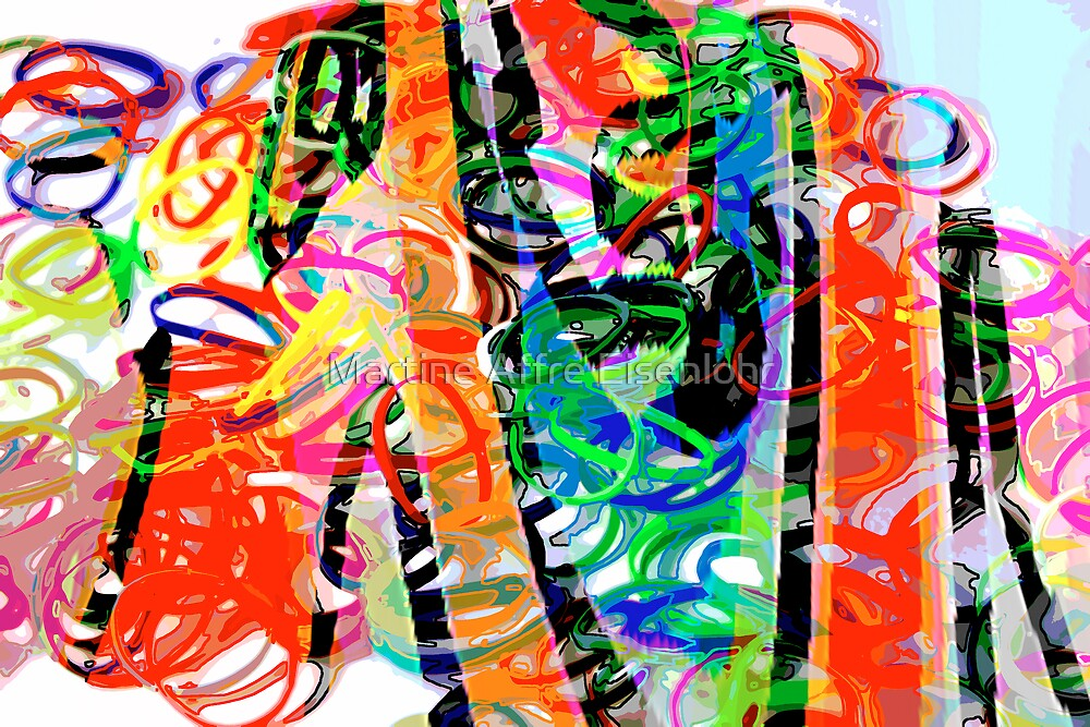 Colorful abstract 1 by Martine Affre Eisenlohr