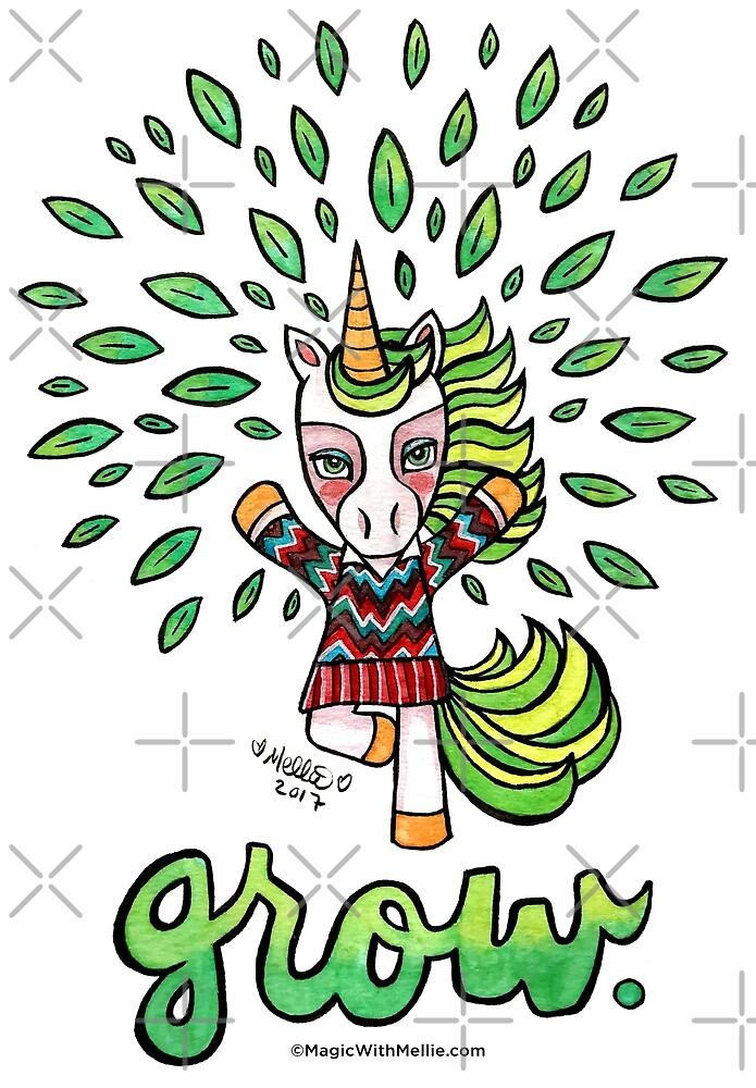 Grow - Unicorn - Animals of Inspiration series by mellierosetest