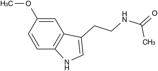 Risultati immagini per melatonin molecule