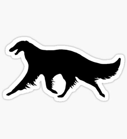 Borzoi Trotting Sticker