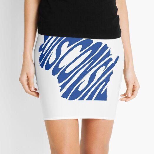 Wisconsin - Blue Mini Skirt