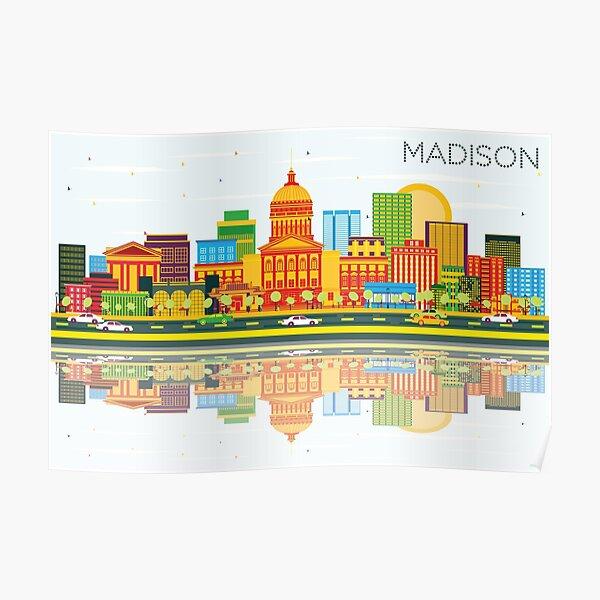 Madison - Color Skyline Poster