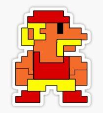 8 bit wrestler Sticker