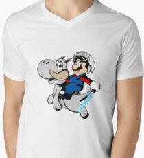 Super Mario Star Wars Men's V-Neck T-Shirt