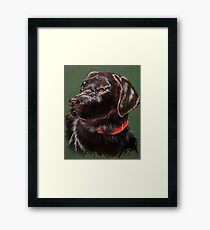 """King Charles""~ Portrait Of A Black Lab Framed Print"