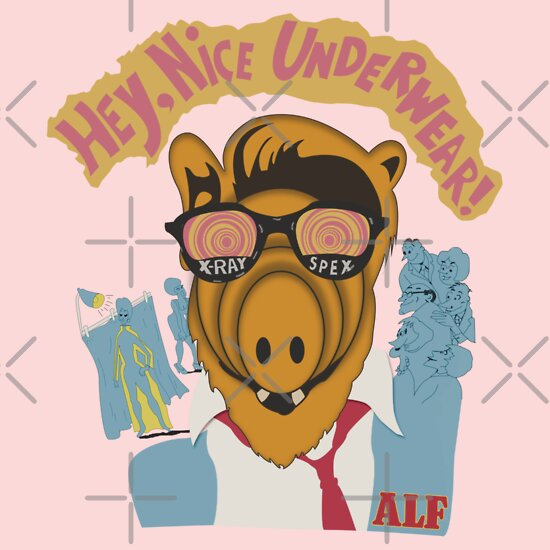 TShirtGifter presents: Lord help us, he's back in his pink Alf shirt | V-Neck
