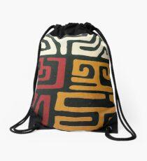 Afrocentric Mudcloth Print Drawstring Bag