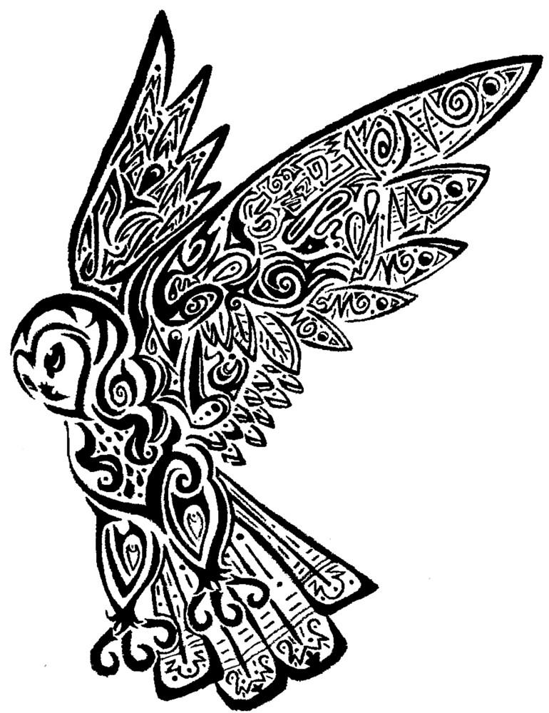 Tribal Owl  by Kara  Davison