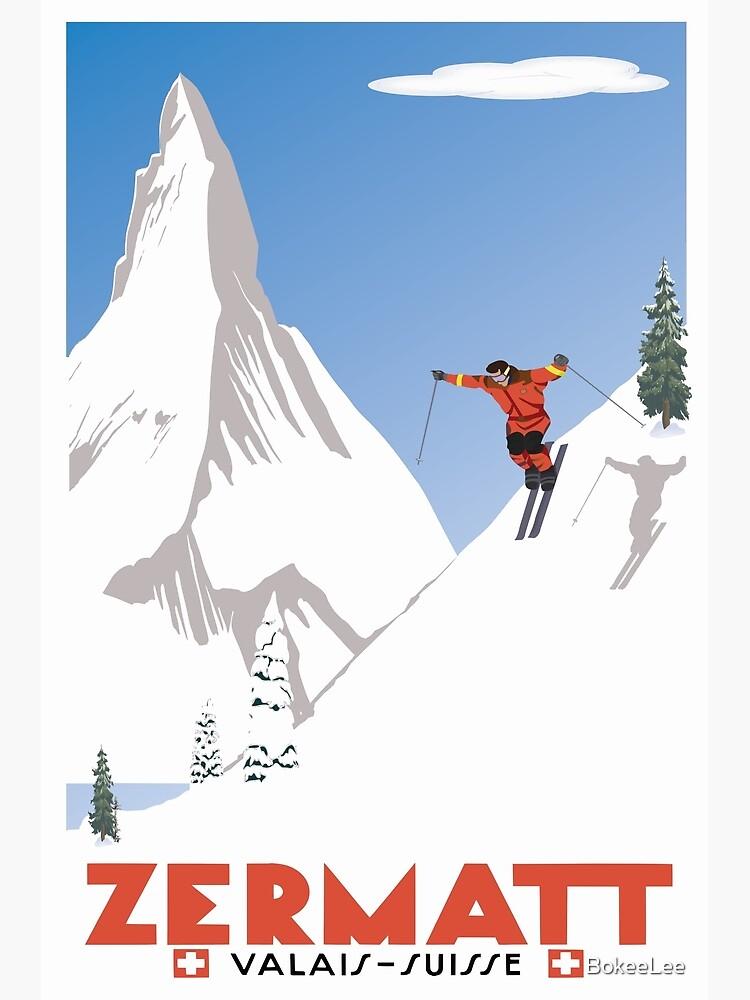 Zermatt, Valais, Switzerland,Ski Poster by BokeeLee