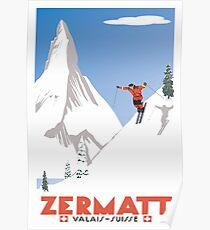 Zermatt, Valais, Switzerland,Ski Poster Poster