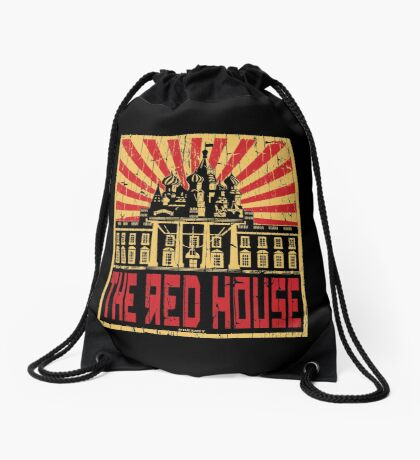 Vintage The Red House Drawstring Bag