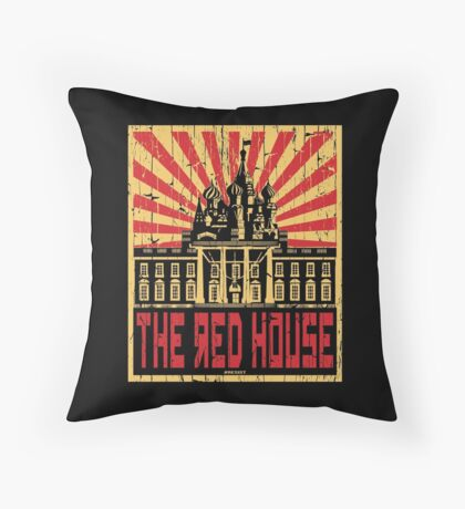 Vintage The Red House Throw Pillow